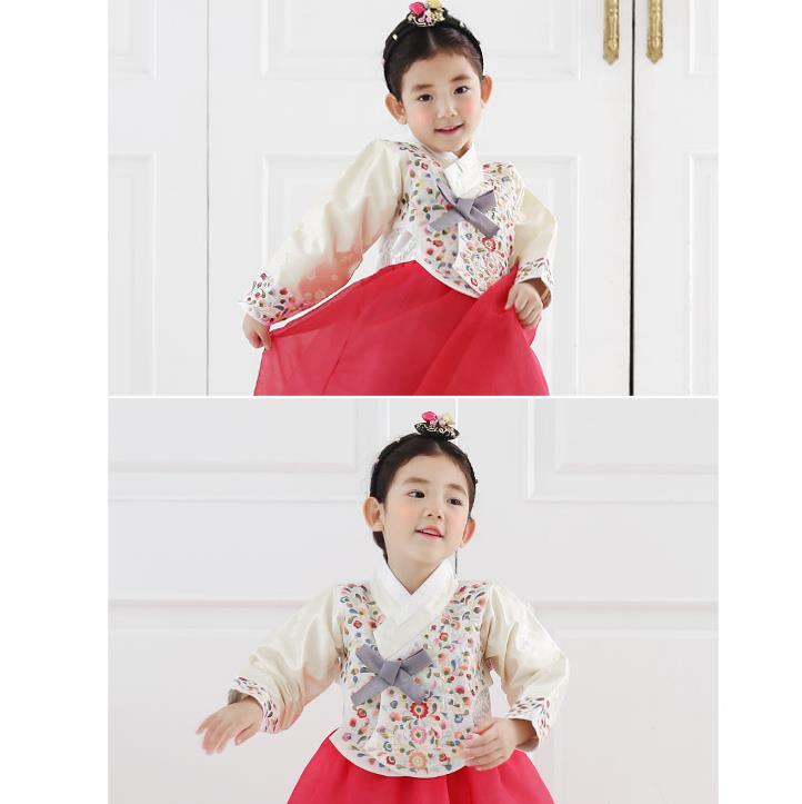 Hanbok Girl Korean Dress Traditional Korea Baby 1st