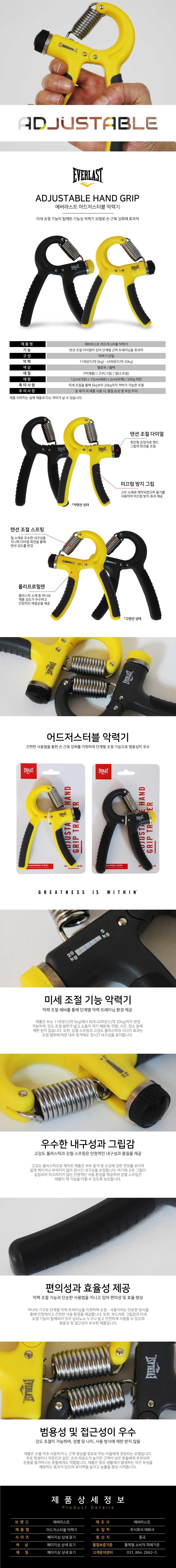 Black for sale online Everlast Adjustable Power Hand Grips